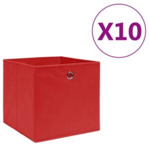 Pood24 mittekootud kangast hoiukastid 10 tk, 28 x 28 x 28 cm, punane