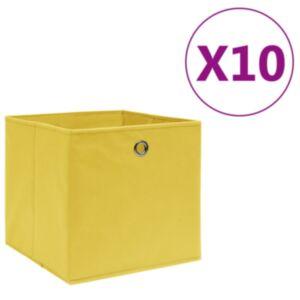 Pood24 mittekootud kangast hoiukastid 10 tk, 28 x 28 x 28 cm, kollane