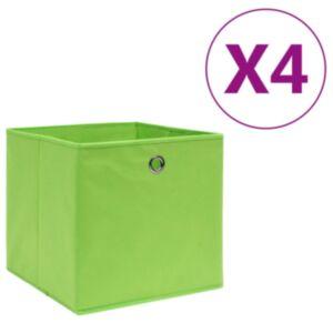 Pood24 mittekootud kangast hoiukastid 4 tk, 28 x 28 x 28 cm, roheline