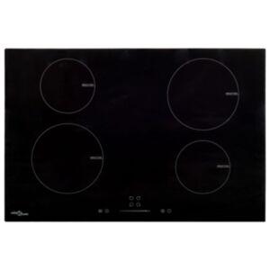 Pood24 induktsioonpliit 4 plaadiga, puutetundlik klaas 77 cm 7000 W