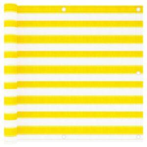 Pood24 rõdusirm, kollane ja valge, 90 x 300 cm, HDPE