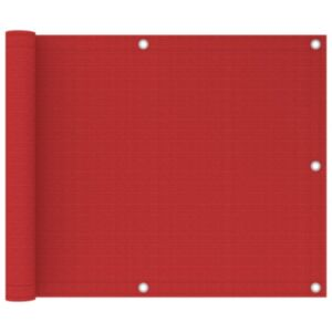 Pood24 rõdusirm, punane, 75 x 300 cm, HDPE