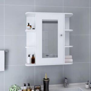 Pood24 vannitoa peegelkapp, valge, 66 x 17 x 63 cm, MDF
