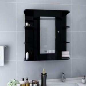 Pood24 vannitoa peegelkapp, must, 66 x 17 x 63 cm, MDF