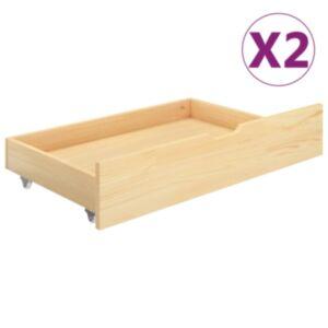 Pood24 voodisahtlid 2 tk, männipuit