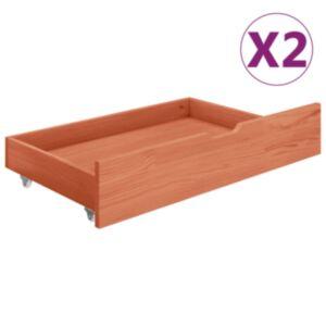Pood24 voodisahtlid 2 tk, meepruun männipuit
