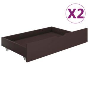 Pood24 voodisahtlid 2 tk, tumepruun, männipuit