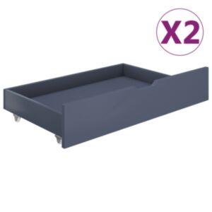 Pood24 voodisahtlid 2 tk, helehall, männipuit