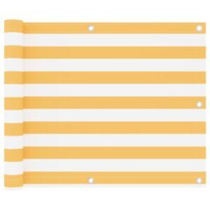 Pood24 rõdusirm, valge ja kollane, 75 x 300 cm, oxford-kangas