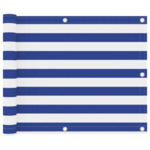 Pood24 rõdusirm, valge ja sinine, 75 x 300 cm, oxford-kangas