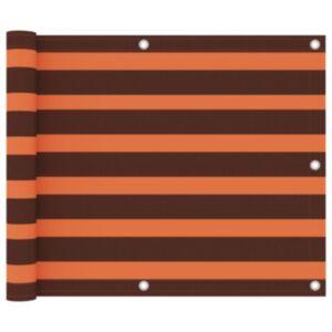 Pood24 rõdusirm, oranž ja pruun, 75 x 300 cm, oxford-kangas
