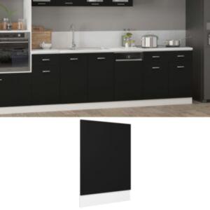 Pood24 nõudepesumasina paneel, must, 45 x 3 x 67 cm, puitlaastplaat