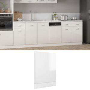 Pood24 nõudepesumasina paneel, valge, 45 x 3 x 67 cm, puitlaastplaat