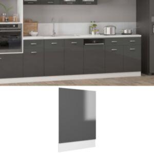 Pood24 nõudepesumasina paneel, hall, 45 x 3 x 67 cm, puitlaastplaat