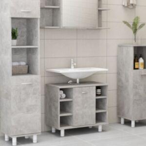 Pood24 vannitoakapp betoonhall 60x32x53,5 cm puitlaastplaat