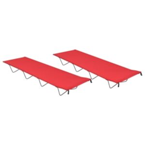Pood24 matkavoodid, 2 tk, 180x60x19 cm, oxford-kangas ja teras, punane