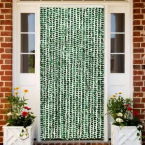 Pood24 putukakardin roheline ja valge, 56 x 185 cm šenill