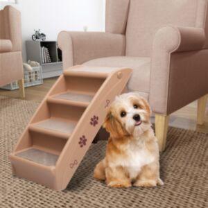 Pood24 kokkupandav koeratrepp, pruun 62 x 40 x 49,5 cm