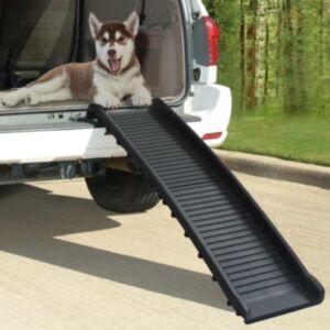 Pood24 kokkupandav koerte kaldtee, must 155,5 x 40 x 15,5 cm