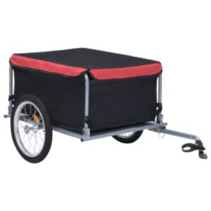 Pood24 kaubahaagis jalgrattale, must ja punane, 65 kg