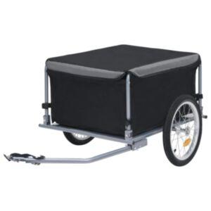 Pood24 kaubahaagis jalgrattale, must ja hall, 65 kg