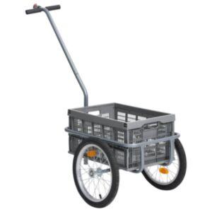 Pood24 jalgratta pakihaagis 50 l kokkupandava veokastiga, hall, 150 kg