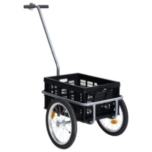 Pood24 jalgratta pakihaagis 50 l kokkupandava veokastiga, must, 150 kg