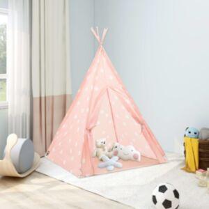 Pood24 laste tipitelk kotiga, polüester, roosa, 115 x 115 x 160 cm