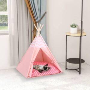 Pood24 kassi tipitelk kotiga, kangas, roosa, 60 x 60 x 70  cm