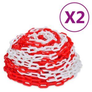 Pood24 hoiatusketid 2 tk, punane ja valge, plast, 30 m