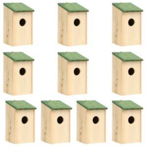 Pood24 lindude pesakastid, 10 tk, nulupuit 12 x 15 x 22 cm