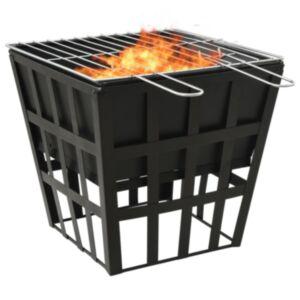 Pood24 kaks ühes tulease ja grill, 34x34x48 cm, teras