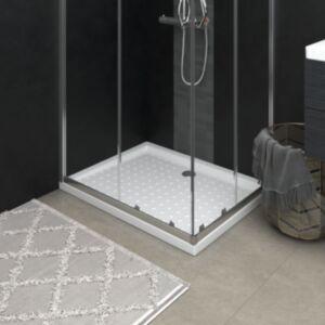 Pood24 dušialus täppidega, valge, 90x70x4 cm, ABS