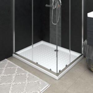 Pood24 dušialus täppidega, valge, 80 x 100 x 4 cm, ABS