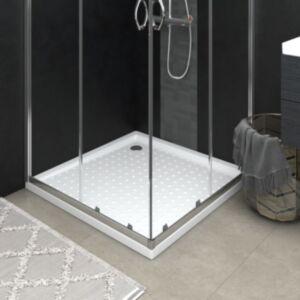 Pood24 dušialus täppidega, valge, 90 x 90 x 4 cm, ABS