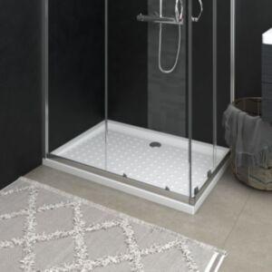 Pood24 dušialus täppidega, valge, 70 x 100 x 4 cm, ABS