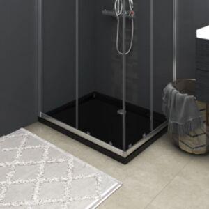 Pood24 ristkülikukujuline dušialus, must, 70x90 cm