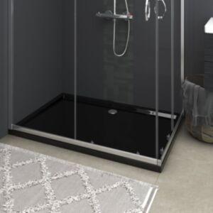 Pood24 ristkülikukujuline dušialus, must, 80 x 120 cm