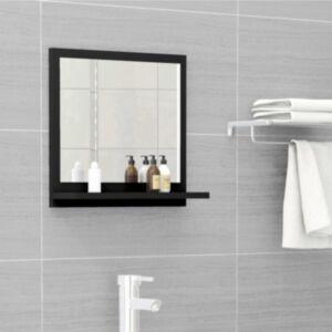 Pood24 vannitoa peeglikapp must 40x10,5x37 cm puitlaastplaat