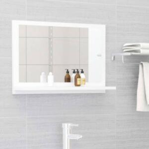 Pood24 vannitoa peeglikapp valge 60x10,5x37 cm puitlaastplaat
