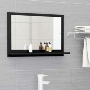 Pood24 vannitoa peeglikapp must 60x10,5x37 cm puitlaastplaat
