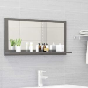 Pood24 vannitoa peeglikapp hall 80x10,5x37 cm puitlaastplaat
