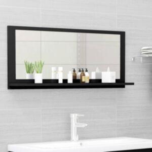 Pood24 vannitoa peeglikapp must 90x10,5x37 cm puitlaastplaat