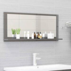 Pood24 vannitoa peeglikapp hall 90x10,5x37 cm puitlaastplaat
