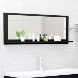 Pood24 vannitoa peeglikapp must 100x10,5x37 cm puitlaastplaat