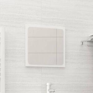 Pood24 vannitoa peegel, kõrgläikega valge, 40x1,5x37 cm puitlaastplaat