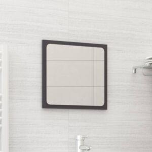 Pood24 vannitoa peegel, kõrgläikega hall, 40x1,5x37 cm puitlaastplaat