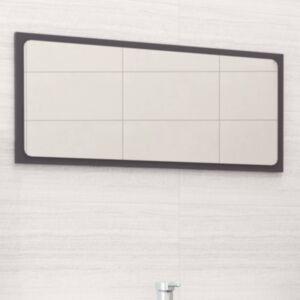 Pood24 vannitoa peegel, kõrgläikega valge 80 x 1,5 x 37 cm puitlaastplaat