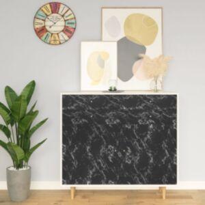Pood24 iseliimuv mööblikile, must kivi, 500 x 90 cm, PVC