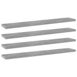 Pood24 riiuliplaadid 4 tk, betoonhall, 60x10x1,5 cm, puitlaastplaat